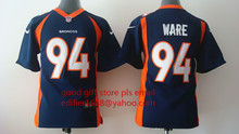 100% stitched youth Denver Broncos children 94 DeMarcus Ware 7 John Elway 58 Von Miller 88 Demaryius Thomas 30 Anthony Davis(China (Mainland))