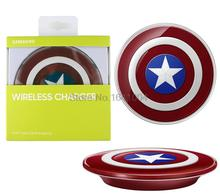 Captain America Edition Charging Pad Wireless Charger For Samsung GALAXY S6 G9200 G920f G920i