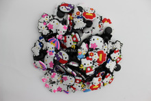 Free Shipping 100pcs/lot Kitty 1 PVC shoe charms ,shoe decoration fit croc for children gift(China (Mainland))