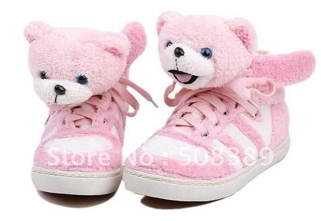 Bear head shoes teddy bear shoes XiongZai nap shoes panda bear shoes cute shoes limited edition low help shoes