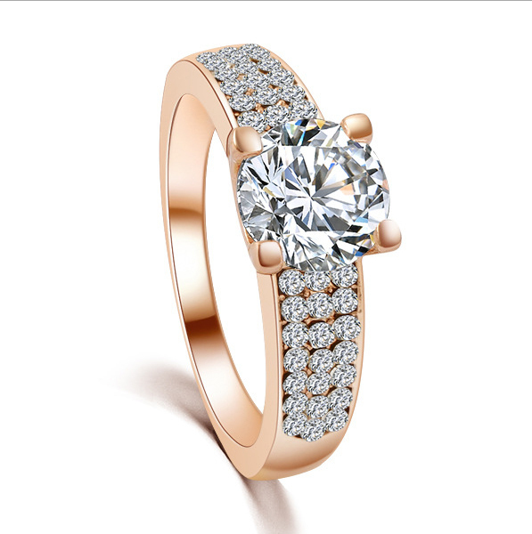 New European And American Fashion Gold Plating CZ Drill Zircon Ring Patriots Jersey 18k Gold Ring(China (Mainland))