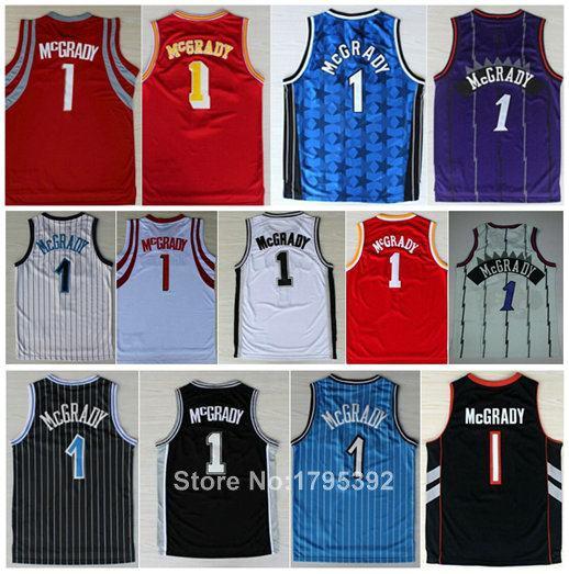 Best T-Mac #1 Tracy McGrady Jersey Orlando Toronto Houston Throwback Basketball Jersey 2003 All Star Olympic Games Jersey S-XXL(China (Mainland))