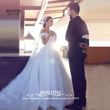 Elegant Wedding Dresses Sweatheart Off The Shoulder Vestido De Novia Cheap Price Bridal Gowns 2017 Cheap Dresses Fast Shipping(China (Mainland))