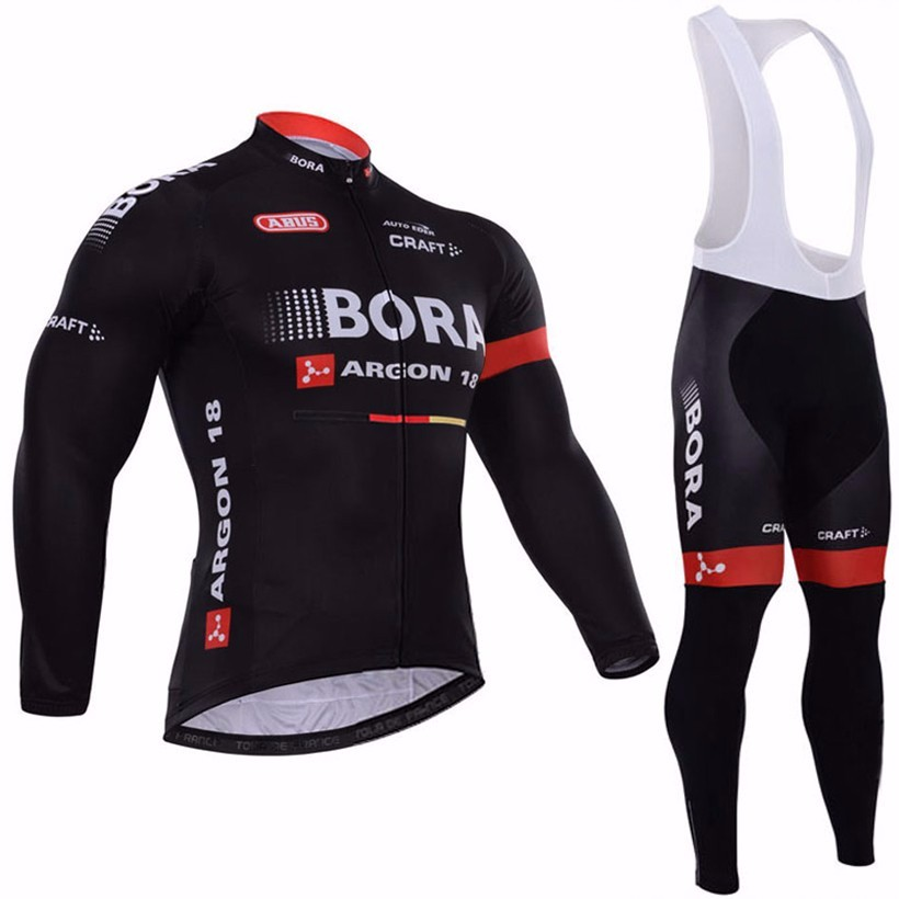 NEW team Black Bora Cycling jersey bike pants set winter thermal fleece long sleeve bike clothing MTB bicycling maillot Culotte(China (Mainland))