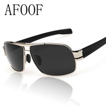 [ AFOOF ] Hot Sale Mens Polarized Sunglasses Brand Designer Men Square Driving Sun glasses Ourdoor Coating Eyewear Goggle Oculos