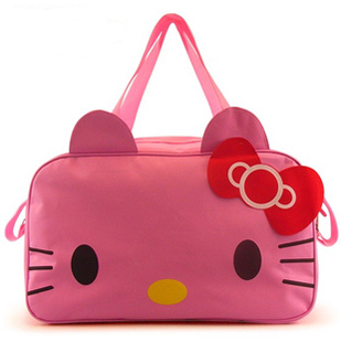 Free Shipping Hello Kitty bag/large handbags/inclined shoulder bag/lovely large shopping bag(China (Mainland))
