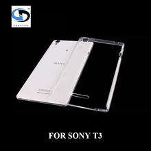 hot sale Luxury Ultra Thin silicon mobile phone cover clear soft TPU cases for Sony Xperia T3 free shipping