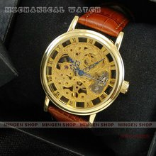 MINGEN SHOP – Hot sale Unique Golden Hollow Design Men Mechanical Watch H0002