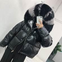 リアルファーコートナチュラルフォックス毛皮の襟 2019 冬ジャケット女(China)