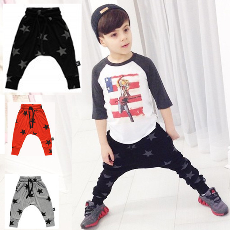Baby Boy Harem Cotton Pants Autumn High Quality Five Star Printed Boy's Sport Pants Comfortable Baby Casual Trousers Retail(China (Mainland))