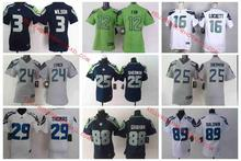 100% Stitiched,Seattle Seahawks,Marshawn Lynch,Richard Sherman,Kam Chancellor,Russell Wilsons,Jimmy Graham,Earl Thomas for women(China (Mainland))