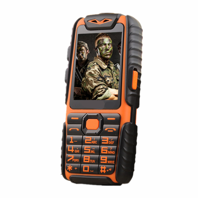 2016 NEW Big Battery Long Standby Army Phone A6+ Shockproof Dustproof Mobile Power Bank Phone Dual Sim Cell Phone(China (Mainland))