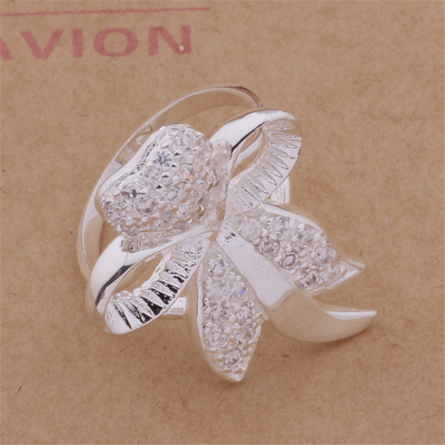 JZ-AR152 Hot 925 sterling silver ring,Wholesale sivler fashion jewelry, big bow tie Ring /axjajoqa(China (Mainland))