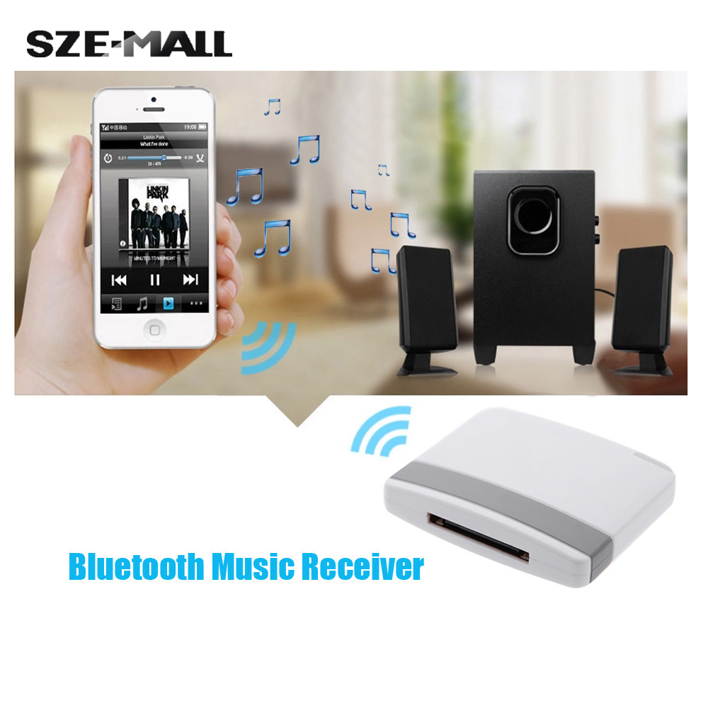 Mini Portable 30Pin Connector Stereo Receiver Bluetooth V2.0 A2DP Music Receiver Adapter for iPad iPod iPhone Dock Speaker(China (Mainland))