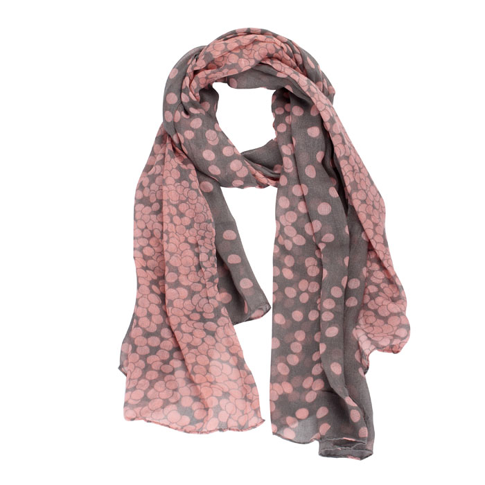 Sheila 2016 Women New Lady Girl  Long Polka Dot Scarf Wraps Shawl Stole Extra Soft Scarves Pink Black Feminino Bufanda Oct12