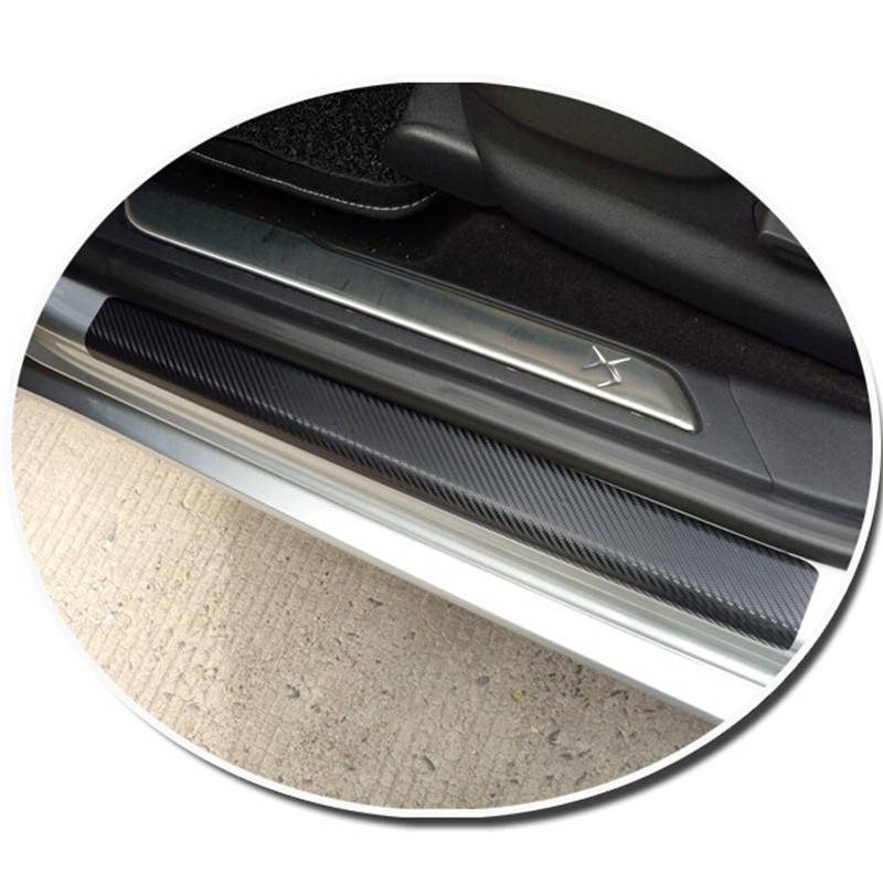 car accessories door sill scuff welcome pedal threshold carbon fiber Protect Stickers for Skoda Octavia A5 A7 2007-2015 4pcs <br><br>Aliexpress
