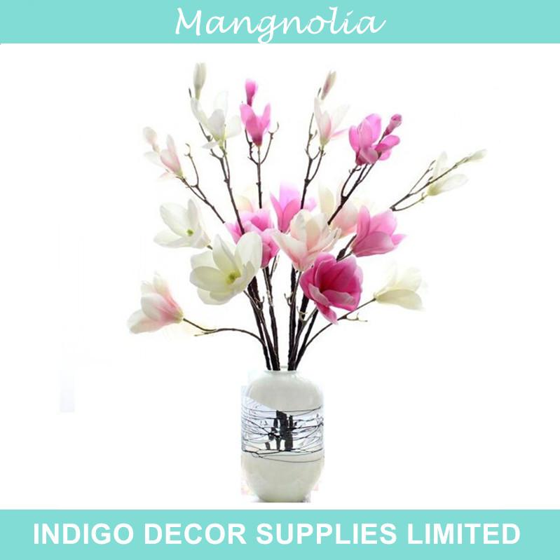 Magnolia - Free Shipping BIG Mangnolia Flower Hibiscus Artificial Silk Flower Wedding Flower Home Decoration Hotel Living Room(China (Mainland))