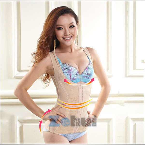 Waist shaper vest beauty care abdomen drawing clothing fat burning waist abdomen belt drawing slimming vest(China (Mainland))