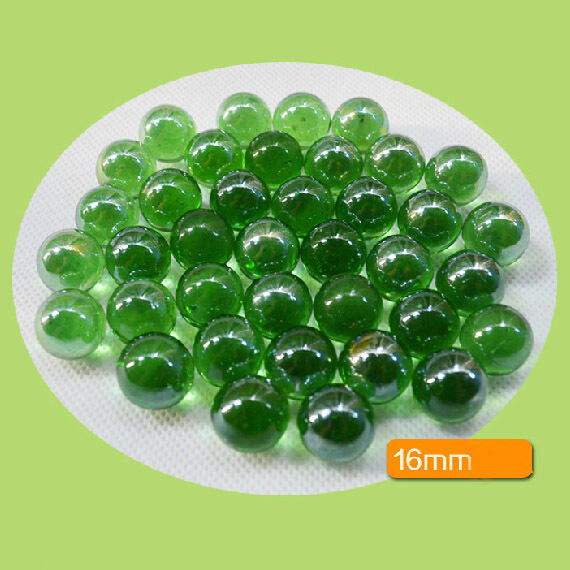 10pcs 16mm green glass marbles ball home fish tank for Fish tank marbles
