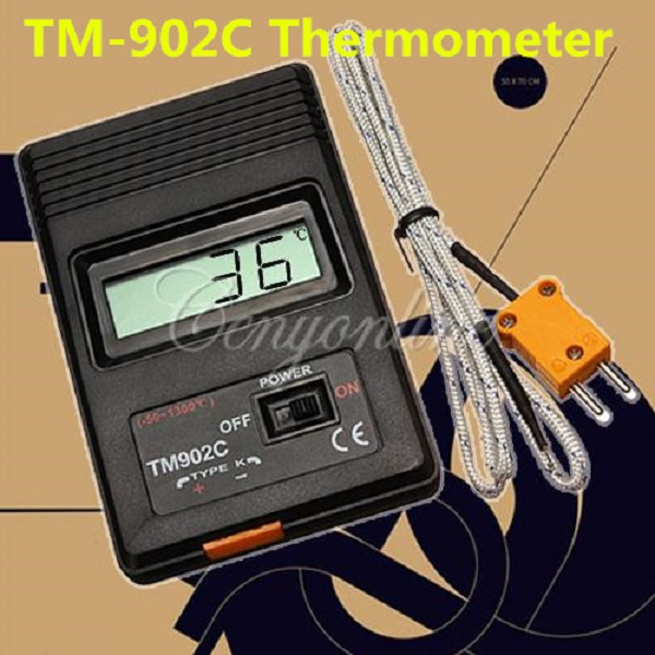 Brand New TM-902C Black K Type Digital LCD Temperature Detector Thermometer Industrial Thermodetector Meter + Thermocouple Probe(China (Mainland))