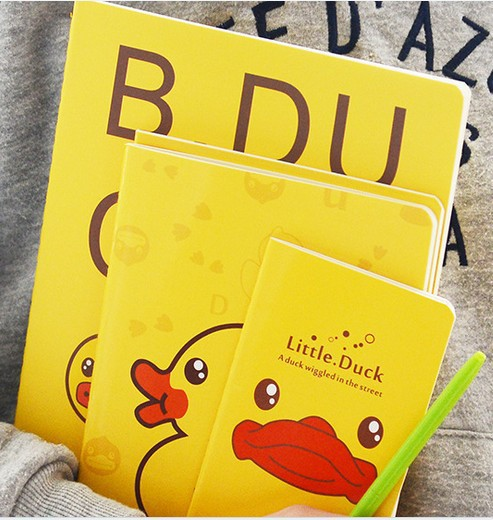 3 sizes Korea stationery cute cartoon yellow duck notebook diary for students school supplies books free shipping 1479<br><br>Aliexpress