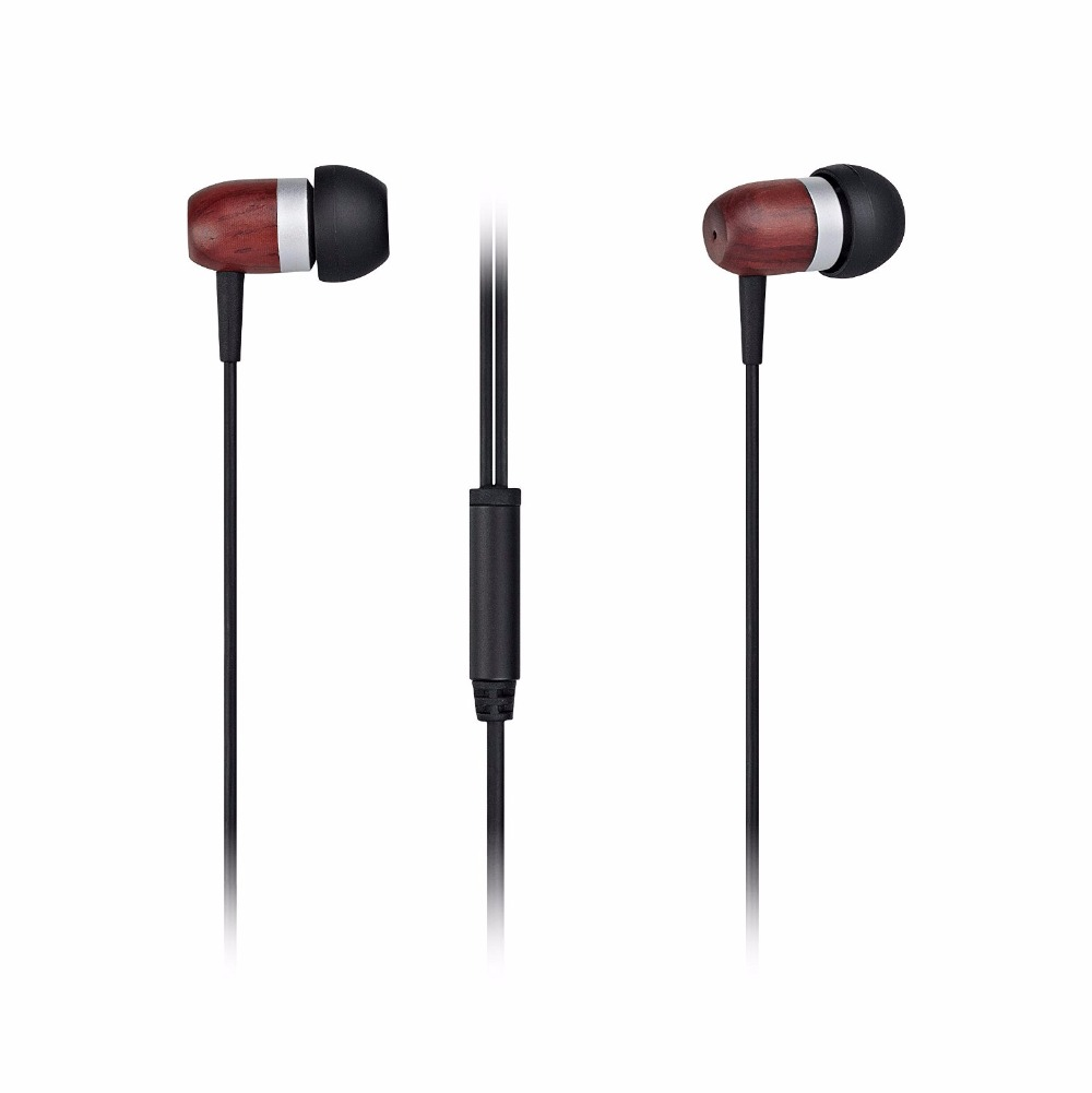 Phone Headphones With Mic For Android Phones aliexpress com buy genuine wood earphonesgranvela hi defination in ear headphones with microphonefor iphoneandroid phones