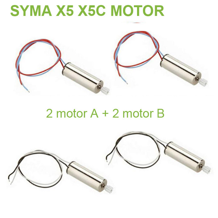 New 4PCS Syma X5 X5C Motor RC Quadcopter Spare Parts Motor X5C VS JXD385 V272 H107 X5-05 Replacements Accessorie(China (Mainland))