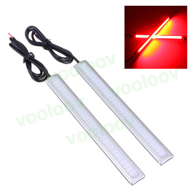 1pc 17cm 6w Auto DRL Daytime Driving Running Light waterproof COB Chip LED Car Styling Daylight