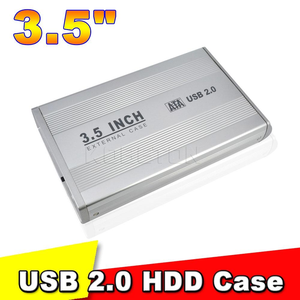 3.5 inch SATA HD Hard Drive Enclosure USB 2.0 HDD Case External Enclosure HDD DISC BOX(China (Mainland))