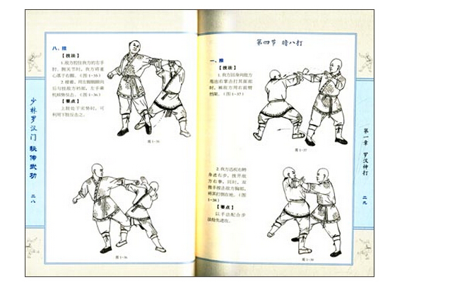 Practical ShaoLin Luohan Door Secret Martial Art,Chinese Wushu Kung Fu Shao Lin Book Easy To Understand With Picture 5 Chapter(China (Mainland))