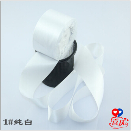 2 inch (50mm) single face Satin Ribbon 25yds White webbing Wedding decoration Z002 - Fang Decorative Accessories Stores store