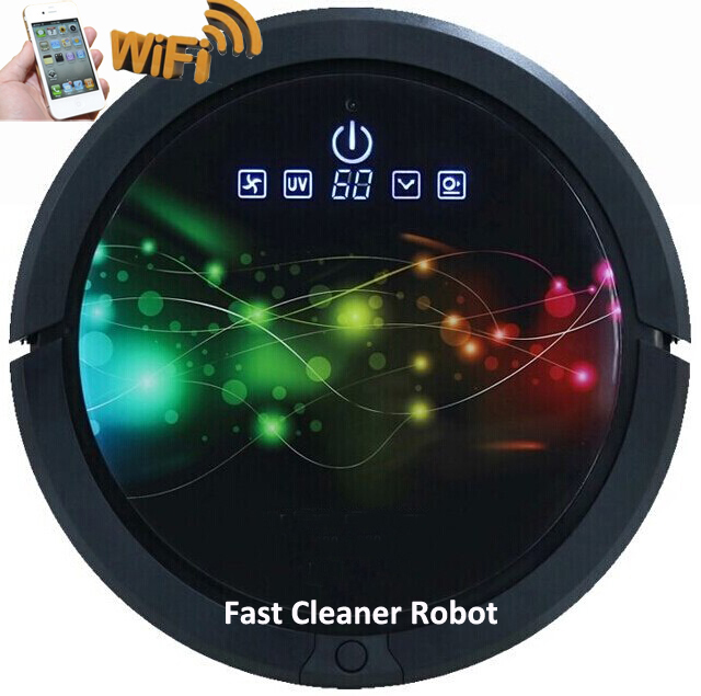 WIFI Smartphone App Control Wet And Dry Robot Vacuum Cleaner QQ6 with 150ML Water tank,Auto Recharge,Remote Control,Schedule,LCD(China (Mainland))