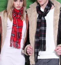 100% кашемир компактный шотландка и чистый цвет длинная шарф для мужчины и женщины 30 x 185 см 21 $ 45