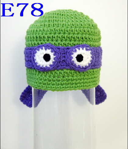 Free shipping Crochet Baby Ninja Turtle Hat Newborn Handmade baby hats Photo prop baby cap 200pcs(China (Mainland))