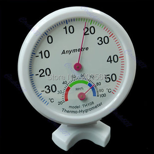 D19 Hot-selling Indoor Outdoor Thermometer Hygrometer Temperature New Free shipping(China (Mainland))