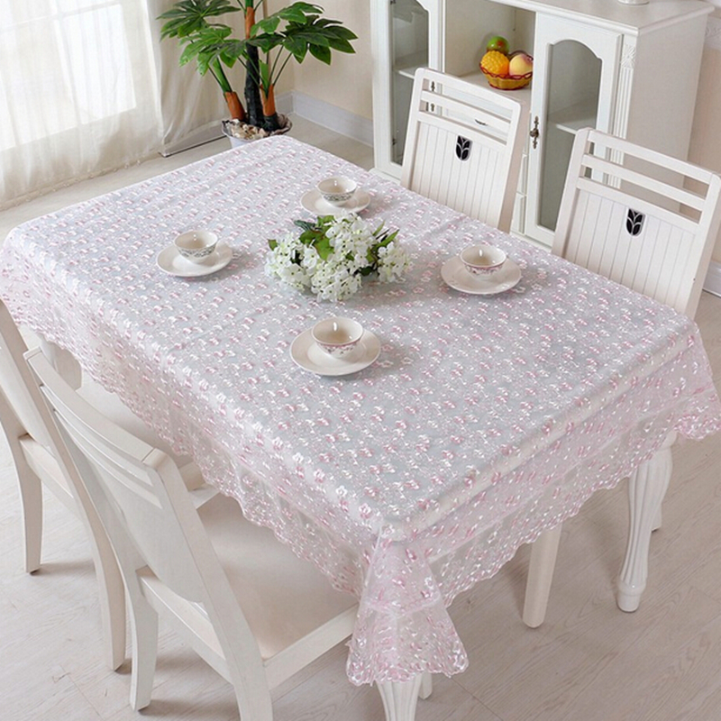 Mutifunctional Lace Embroidered tablecloths Dustproof Table Cover Home Decor For Ding/Tea/Bedside Table Refrigerator Microwave()