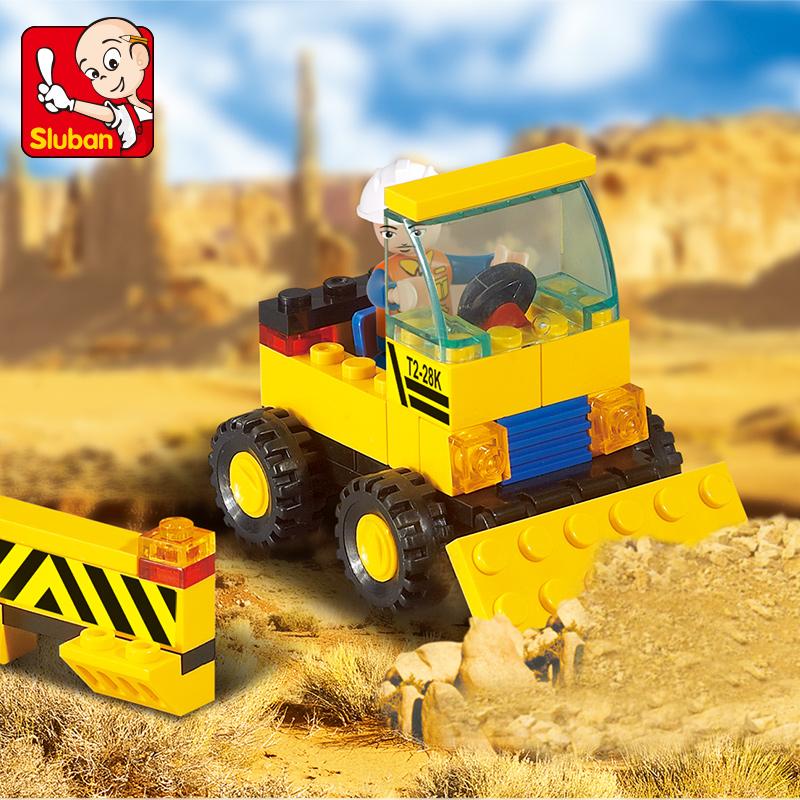 Genuine SLuban Blocks Heavy Engineering Series Children Educational Toy Truck Compatible Lego Birthday(China (Mainland))