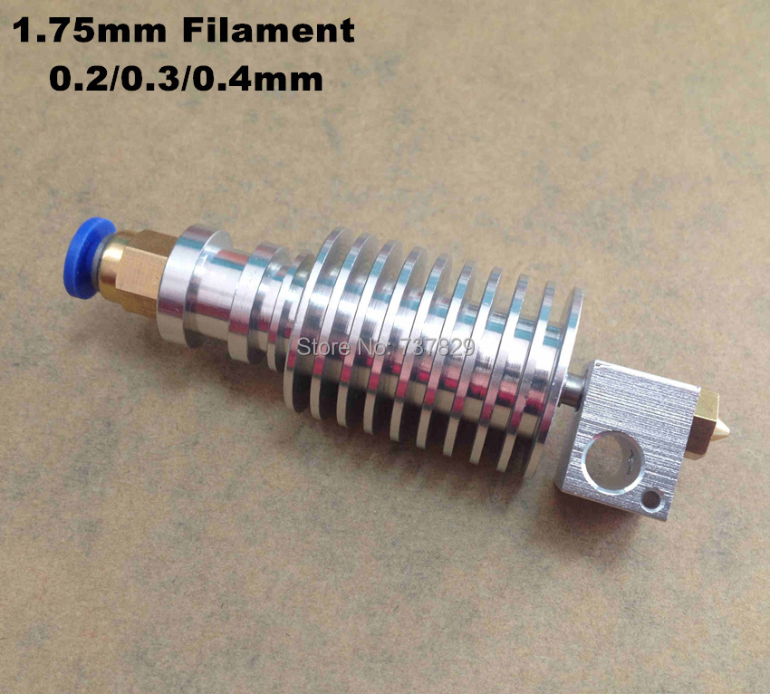 10pcs All metal E3D J-head Hotend Long Distance for 3d Printer bowden extruder 1.75mm Filament ABS/PAL 0.2/0.3/0.4mm Nozzle(China (Mainland))