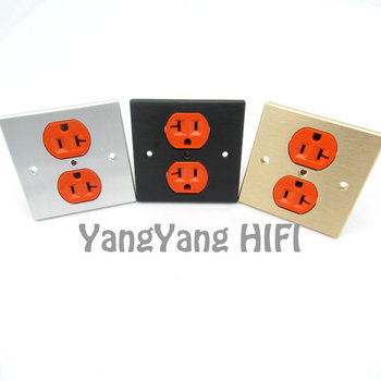 Aluminum Alloy AC Power Conditioner Wall Plate electric socket