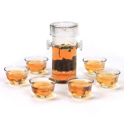 240ml glass teaset kettle tea set 7 pieces 1 tea 6 tea cup including FLOWER Tea