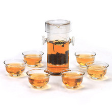 Free Shipping 240ml glass teaset / kettle, tea set including FLOWER Tea Black tea 7 pieces 1 tea +6 tea cup