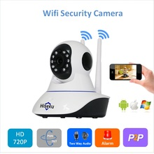 Double Wireless IP Camera Wifi  PT home security camera HD Cctv Camera P2P camera  TF card H.264  Android Baby Monitor FH1