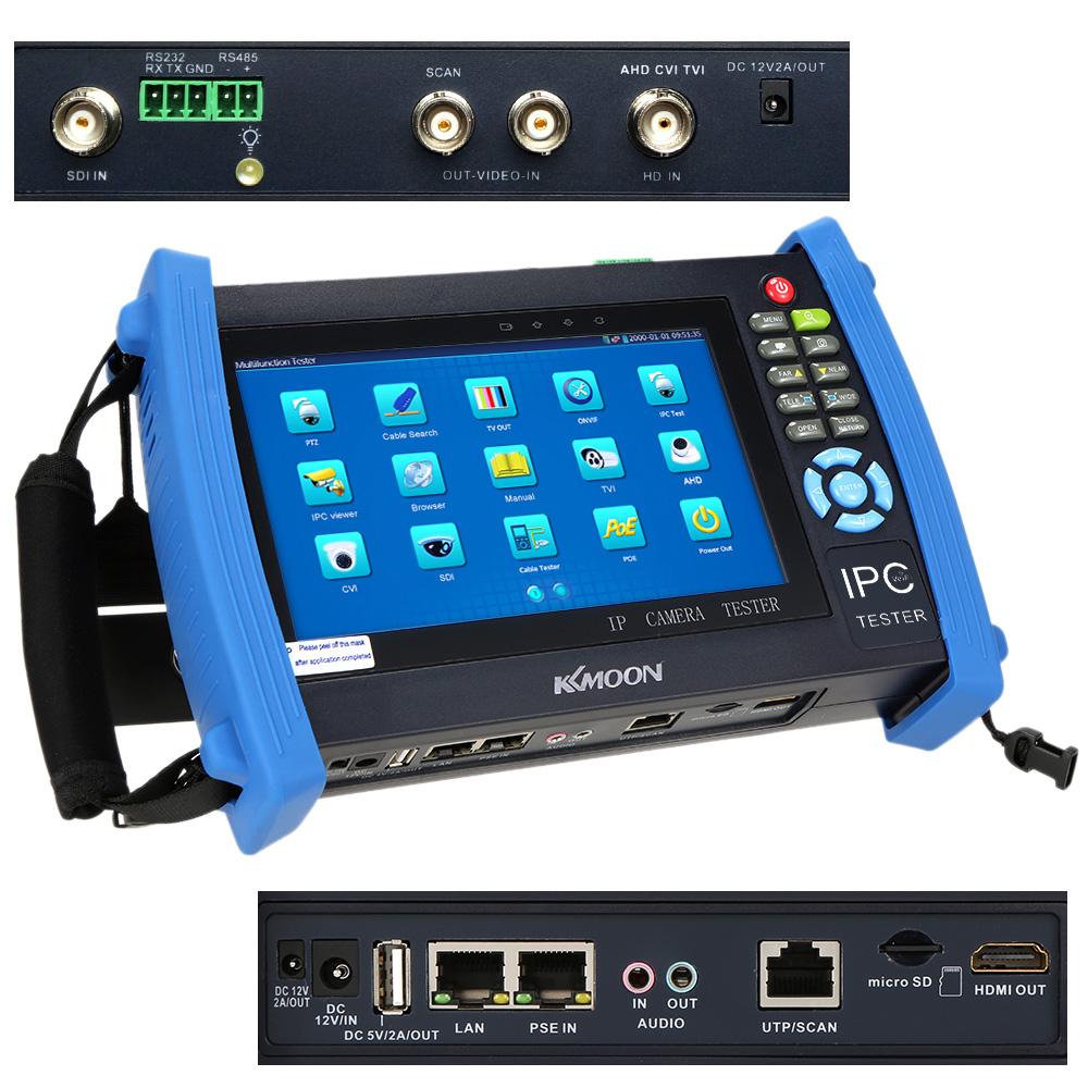 KKMOON 7inch Touch Screen Onvif IP Camera Tester 1024*600 CCTV Tester SDI/AHD/TVI/CVI HDMI 1080P/PTZ/POE/WIFI/FTP IPC-8600ADHS(China (Mainland))