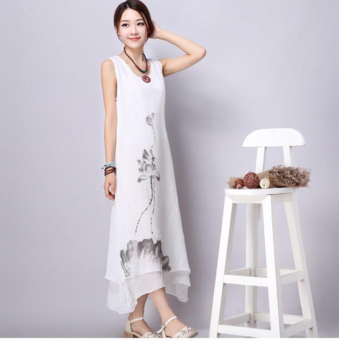 Plus Size White Cotton Dress Plus Size White Dress