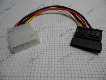 10pcs/lot 15pin to 4pin Sata cable,sata power cable,Free shipping