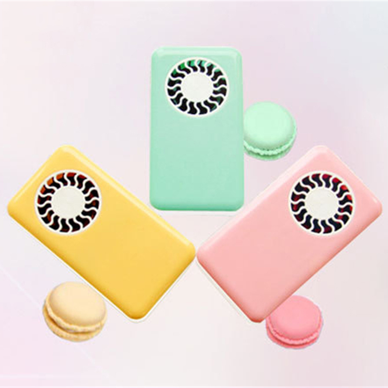 TOLOYO Mini Portable USB Rechargeable Fan Bladeless Fan Candy Colors Portable Handheld Fan(China (Mainland))