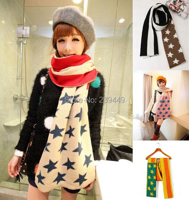 Wholesale Salomon Same Section Star Knitted Scarf Boho Fashion Ladies Oversize Big Wrap Warm Celebrity Designer Winter Scarves(China (Mainland))