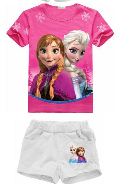 2015 Summer Kid Girls Clothing Set 100% Cotton Baby Girls Clothes Set 2-8 Years Children Boys Sport Suit Roupas Infantis Menino(China (Mainland))
