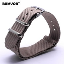 Buy Retro 24 mm Watchbands Men Women Army Military Beige Nato Fiber Woven Nylon Watch Strap Wristwatch Band Buckle 24mm watches belt for $2.31 in AliExpress store