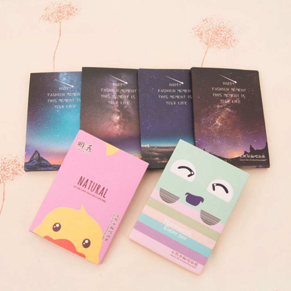 New Arrival 50 Sheets/Pack Makeup Facial Face Clean Oil Absorbing Blotting Papers Beauty Tools Pattern Random